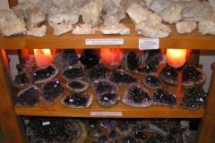 Bergkristall- & Amethyst-Stufen