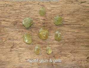 Apatit-grün-Apatit-gelb