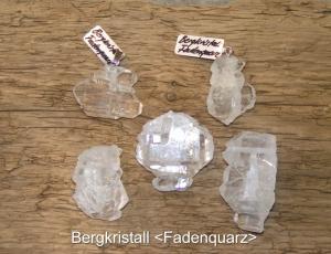 Bergkristall-Fadenquarz