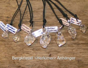 Bergkristall-Herkimer-Anhänger