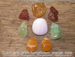 Calcit-Honigcalcit-Manganocalcit-Orangencalcit-Calcit-grün-