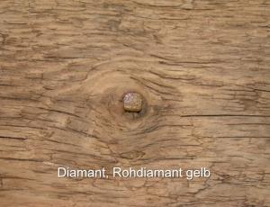 Diamant-Rohdiamant-gelb