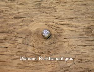 Diamant-Rohdiamant-grau