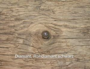 Diamant-Rohdiamant-schwarz