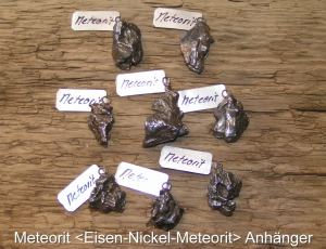 Meteorit-Eisen-Nickel-Meteorit-Anhänger