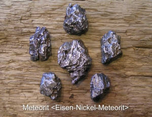 Meteorit-Eisen-Nickel-Meteorit